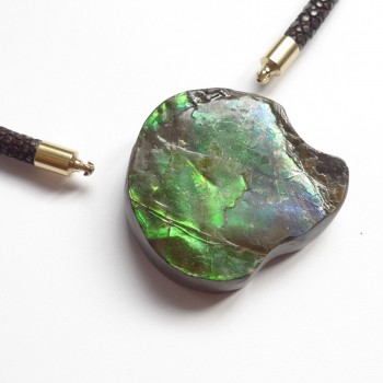 Ammolite Unusual Stone as InterChangeable Clasp pendant