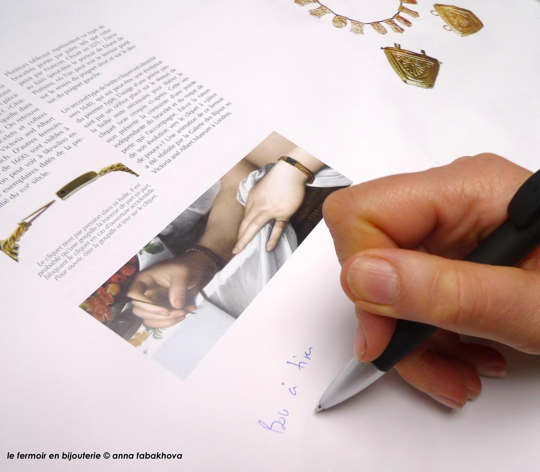 Le fermoir en bijouterie, par Anna Tabakhova, reportage imprimerie, Editions Terracol