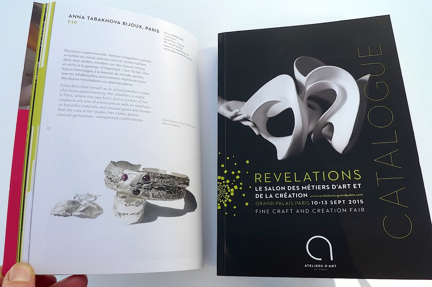 Le catalogue Revelations anna tabakhova bijoux Paris