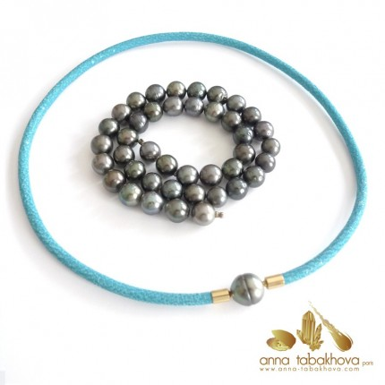 BLACK TAHITI pearl InterChangeable necklace (stingray necklace sold separatly)