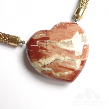 Red jasper heart-shaped InterChangeable Clasp