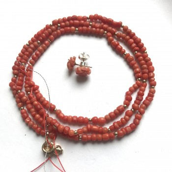 Collier corail perles...